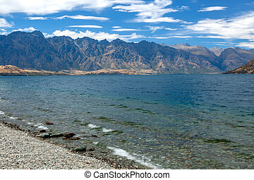 View of the Remarkables mountain range in New Zealand
