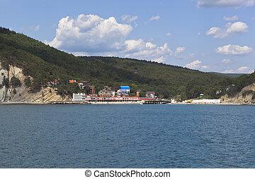 View of the resort settlement Dzhanhot in Gelendzhik district of Krasnodar region, Russia