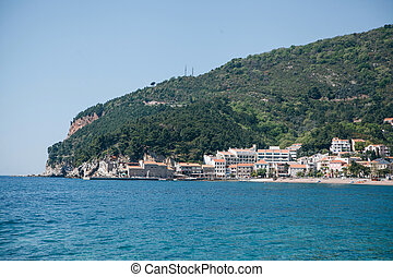 View of the resort town of Petrovac.
