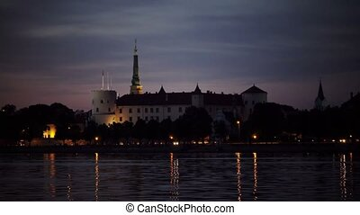 view of the Riga Castle — the residence of President of...