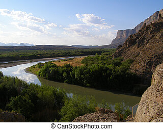 Rio Grande - View of the Rio Grande at Big Bend National...