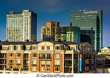 View of the Ritz Carlton Residences and Legg Mason Building...