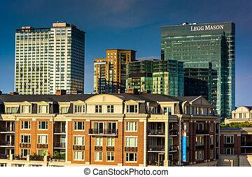 View of the Ritz Carlton Residences and Legg Mason Building...