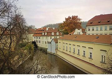 river Certovka in historic part of Prague