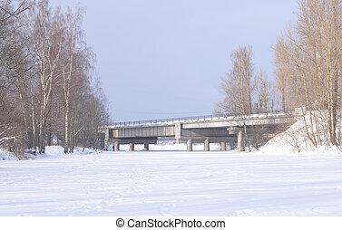 View of the river Slavyanka.