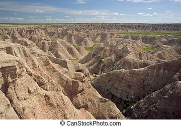 Badlands National Park - View of the rocks at Badlands ...