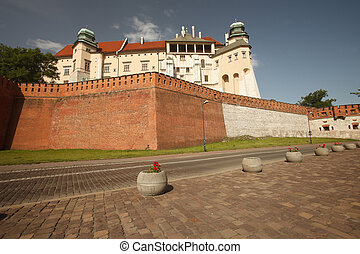 View of the Royal Wawel Castle in Krakow. Poland. Summer