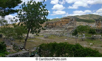 Heropolis near Pamukkale - View of the ruins of Heropolis...