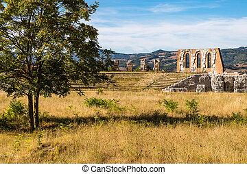ruins of the Roman theater in Gubbio