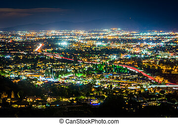 View of the San Fernando Valley from the Universal City Overlook