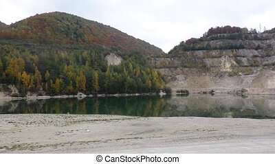 View of the sandy dolomite quarry in Slovakia