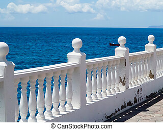 View of the sea from a terrace