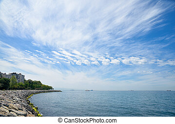 The Sea of Marmara - View of The Sea of Marmara in Istanbul