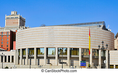 Senate of Spain Palace in Madrid, Spain - view of the Senate...