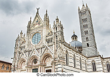Siena Duomo - View of the Siena Duomo with vintage colors. ...