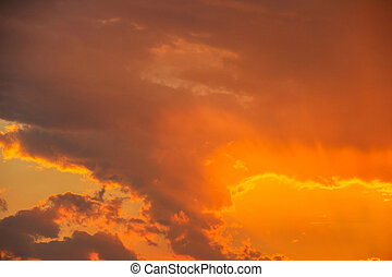 View of the sky during a sunset with clouds