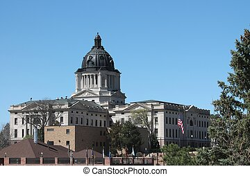 South Dakota State Capital Complex - View of the South...