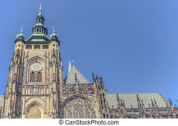 View of the St.Vitus Cathedral in Prague, Czech Republic