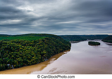 View of the Susquehanna River from the Pinnacle, in...