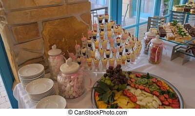 View of the Sweet treats for events.