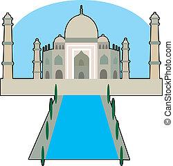 Taj Majal - View of the Taj Majal