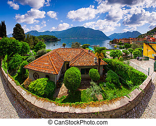 View of the town Argegno, on Lake Como.