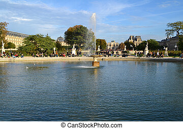 Tuileries Gardens in Paris, France