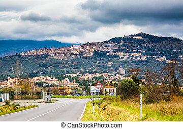 View of the Tuscany city Cortona