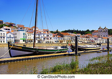 View of the typical town of Alcacer do Sal in the Alentejo region of Portugal