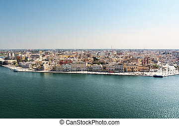 View of the upper part of the historic center of Brindisi (Italy)