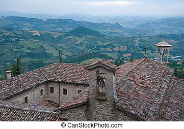 view of the valley from the city of San Marino