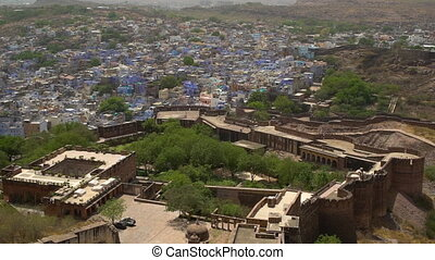 View of the valley of Jodhpur and fort. - From the top of...