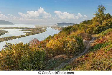 View of the valley of the river