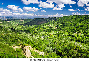 View of the valley summer in Tuscany