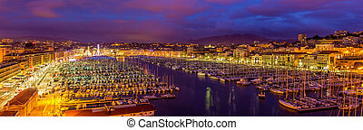 View of the Vieux port (Old Port) in Marseille, France