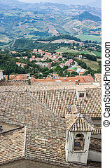 View of the village from the fortress of San Marino Republic