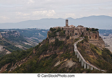 View of the village of Civita di Bagnoregio, Lazio, Italy