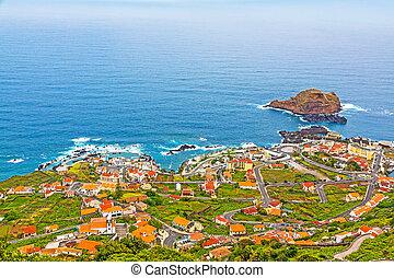 Porto Moniz, Madeira - View of the village of Porto Moniz, ...