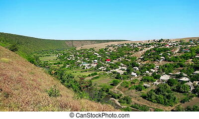 View of the village - View of the Moldovian village from the...