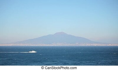 view of the volcano and the sea
