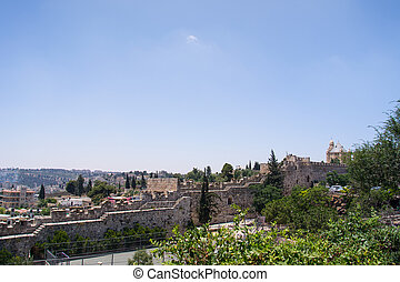 View of the walls in Jerusalem