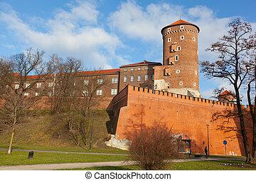 View of the Wawel castle in Krakow, Poland