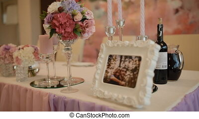 View of the well decorated wedding table