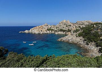 Capo Testa - View of the wonderful beach of Capo Testa, ...