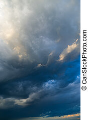 View of thunderstorm clouds.