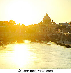 Tiber and St. Peter's cathedral