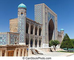 Tilla-Kari medressa - Registan - Samarkand - Uzbekistan -...