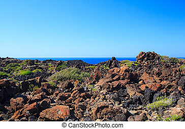 Pantelleria - View of tipycal countryside in Pantelleria ...