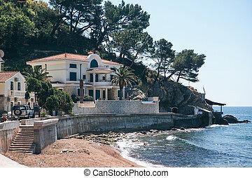 View of traditional coastal villas