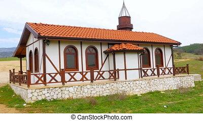"""View of Traditional Ottoman Anatolian Village Mosque, Safranbolu, Turkey"""